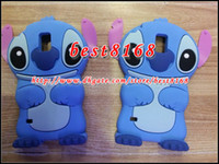 Wholesale Galaxy S3 Gel Cases Cute - 3D Stitch Ear Cartoon Soft Silicone Gel Case For galaxy A310 A510 A710 E5 E7 Grand Prime G530 Core G360 S5 S4 S3 Lovely Gel skin Cute covers