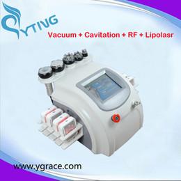 Wholesale Cavitation Lipolaser - 8pcs lipolaser pads lipo laser machine vacuum face body rf cavitation body slimming machine