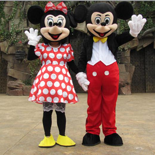 We are trying to offer the first-rate service and we hope you could enjoy the shipping time. & Mickey Mouse Mascot Costume Couple Mickey Minnie Adult Complete ...