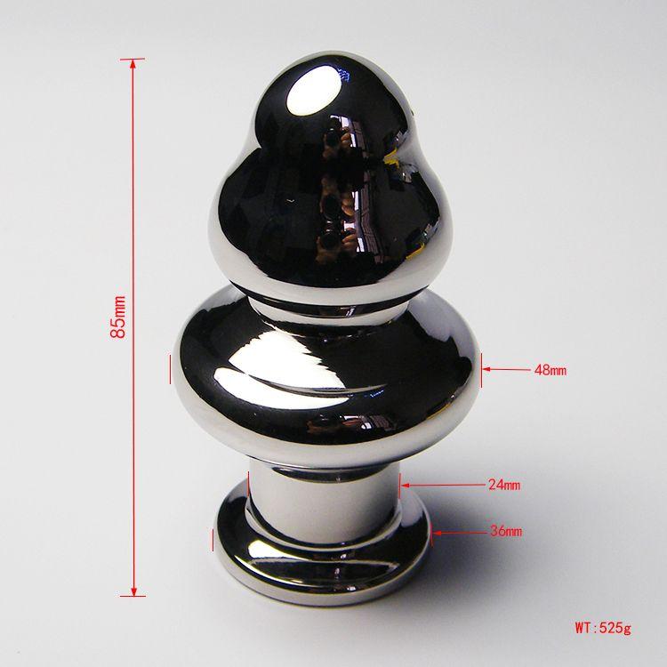2018 Ultimo attraente acciaio inossidabile Fungo anale Butt Plug Anus gioielli adulti BDSM Sex Toy prodotto grande piccolo