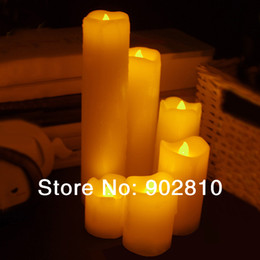 Wholesale Paraffin Lamps - [listed in stock]-6pcs lot LED Paraffin Wax Candle Lamp Flameless Electronic Light for Wedding & Party Decoration (N1074)