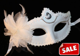$enCountryForm.capitalKeyWord Canada - Snow White Mask Halloween Festive Event mask flower feather Wedding party masks Venetian Christmas Carnival masque Women masks Cosplay props