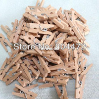 Wholesale Wholesale Mini Clothespins - Grade A Retail Free Shipping | 500 Pcs Lot Birch Wooden Clothes Pins | Mini Size ClothesPins | Natural Color | 2.5 cm Length