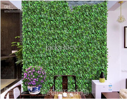Wholesale Artificial Flowers Green Plants - Home Wall Decor Artificial Silk Plastic Ivy Vine Hanging Plant Garlands Craft Supplies For Wedding Home Decor 144 m Per Lot