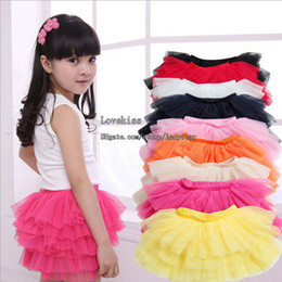 Wholesale Yellow Ballet Skirt Kids - Kid Girls Skirts Children Skirt Tutu Skirts Child Clothing Tiered Skirts Ballet Tutu Kids Skirt Girl Skirt Tutu Girl Clothes Child Skirts