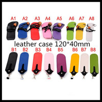 Wholesale Carry Bag Lanyard - Ecig Ego Leather Lanyard Ring Electronic Cigarette BagNecklace Carrying Bags Lanyard with batterys E Cigarette ECig Lanyard High Quality