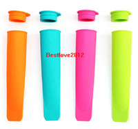 Wholesale Ice Maker Factory - Silicone Push Up Ice Cream Jelly Lolly Pop Maker Popsicle Mould Mold factory price 1000pcs free shipping