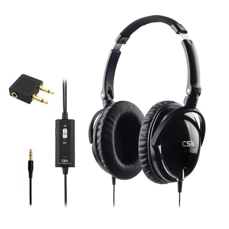 Cuffie HD ad alte prestazioni più pieghevoli all'orecchio Cuffie aeree con cancellazione del rumore attiva che riducono il rumore di fondo del 90% in caso di drop ship