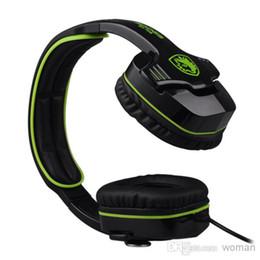 Wholesale Headset Plugs - SADES SA-708 WCG Recommended Professional game headphones 3.5mm Audio Plug Professional Gaming Headphone Headset from corolla