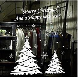 $enCountryForm.capitalKeyWord Canada - Christmas tree happy new year vinly PVC shop window sticker DIY art drawing house room wall quote decal decoration