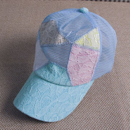 Wholesale Lace Cap Net - Fashion Summer Multiple Lace Net Snapback Baseball Cap Hat