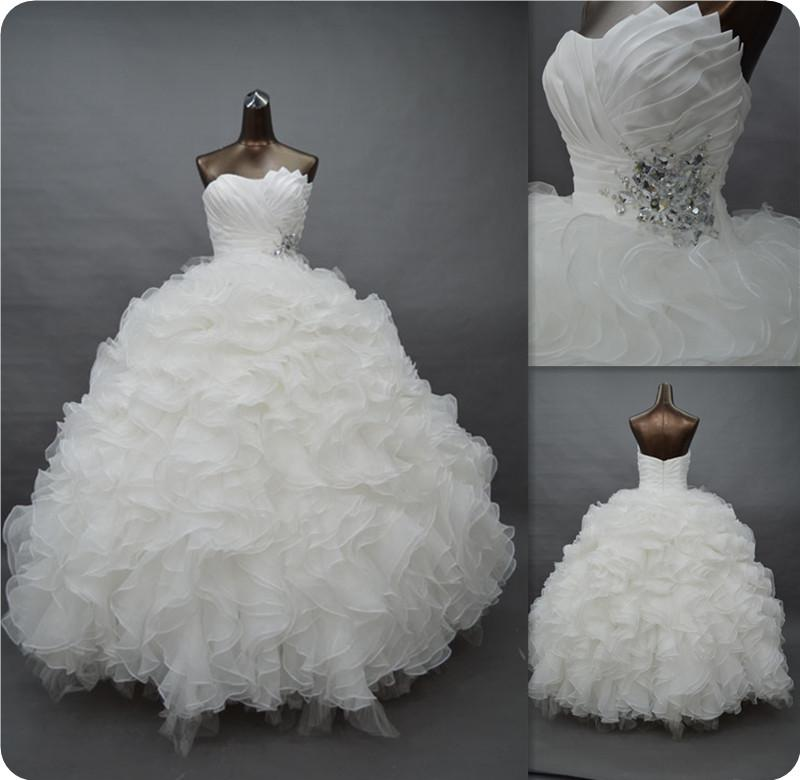 2015 Princess Junior White Quinceanera Dresses Puffy Real Photo ...