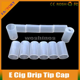 Wholesale Ego Clearomizer Disposable Tips - 300PCS Drip Tips Caps Disposable Tips Atomizer Cover Fit For eGO CE4 CE5 mouthpieces Clearomizer Ecig Electronic Cigarette Drip Tips Cheap
