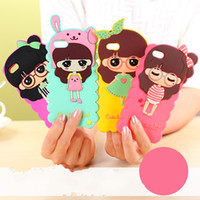 Wholesale Iphone4 Silicon Cover - New 1pcs Candys Iphone4 4s Case world Thickness Cartoon TPU Crystal Clear soft silicon Rubber Case Back Cover For Iphone5 5s  Iphone 4s 4