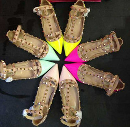 Wholesale Post Springs - free hk post! f936 34 40 genuine leather neon flat shoes pointy runway celeb fashion classic ballerinas pink yellow blue