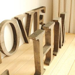 Wholesale Letters For Doors - The price is for one letter Not one word, Personalized Wooden Name Plaques Word Letters Wall Door Art Wedding Photo Props 23CM,