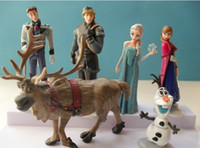 Wholesale 8 off high quality Frozen doll Anna Elsa Kristoff Hans Olaf and sven a set in plush toys for children Retail DROP SHIPPING set ZF