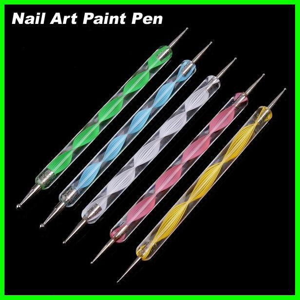 Best price Nail Art Tool Steel Dotting Marbleizing Pen Nail Art Paint Pen Decoration Nail Art Manicure Tool