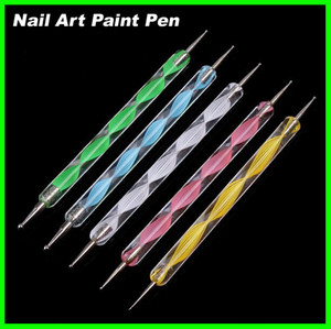 Wholesale dots paintings for sale - Group buy Best price sets Nail Art Tool Steel Dotting Marbleizing Pen Nail Art Paint Pen Decoration Nail Art Manicure Tool