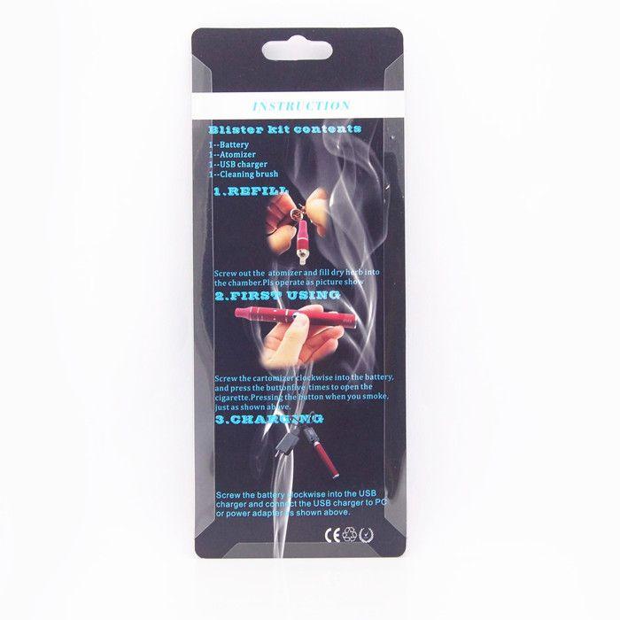 Cigarro eletrônico Evod Mini atrás blister starter kit e cigarro erva seca vaporizador e cig mini atrás g5 vape pen vapor