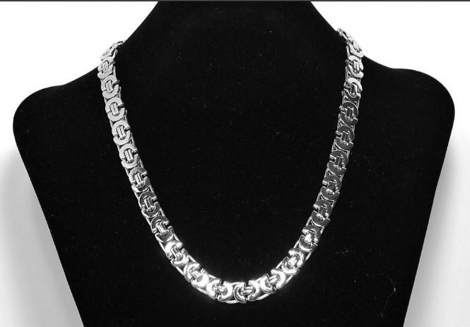 Set di gioielli all'ingrosso 8mm argento da uomo bizantino appiattito Necklacebracelet set regalo in stile Dubai nave libera
