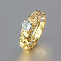 $enCountryForm.capitalKeyWord Canada - Top quality 18K gold plated swiss CZ diamond engagement Rings fashion jewelry new design Free Shipping