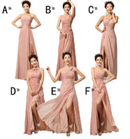 Wholesale Cocktail Dresses Ivory Color - Special Offeri!CUSTOM New Mix style split Long bridesmaid dresses sweep train, Graduation prom dress cocktail sexy dress evening dress