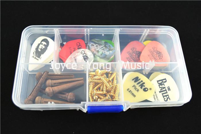 En plastique transparent Médiator cas pour guitare Enregistrer PicksGuitar Accessoires Outils Livraison gratuite