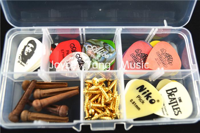 مختارات من البلاستيك الشفاف الحال بالنسبة لحفظ غيتار PicksGuitar أدوات زينة شحن مجاني