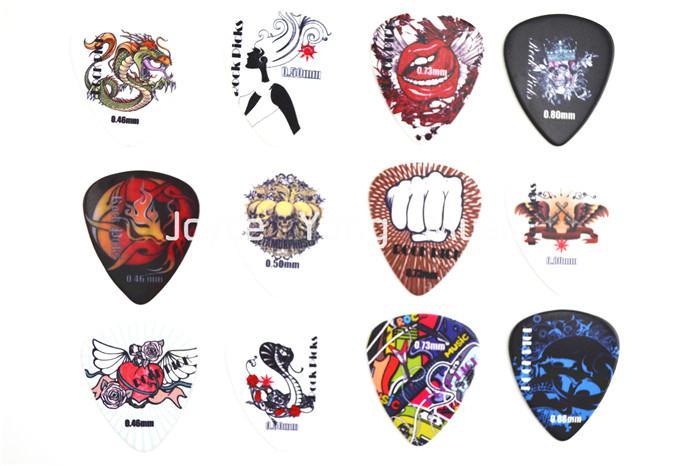 Tragbare Leder Gitarren-Auswahl WalletRock-Art-Zelluloid-Gitarren-Auswahl-freies Verschiffen