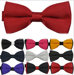 Wholesale double bow ties - adult bow ties polyester leisure jacquard double layer bow tie 50pcs lot free shipping