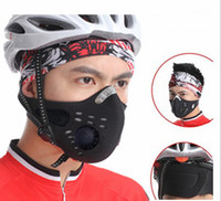 Masks outdoor filters - 2014 NEW Outdoor Sports Bike Face Mask Filter Air Pollutant for Bicycle Riding Traveling Mouth muffle Dustproof H10826