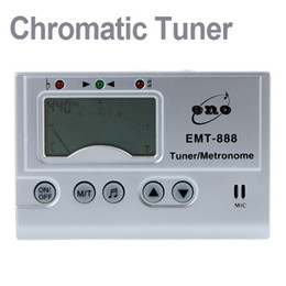 Wholesale Guitar Tuners Wholesale - 3in1 Digital LCD Automatic Universal Chromatic Tuner Metronome Tone Generator with Mic I180