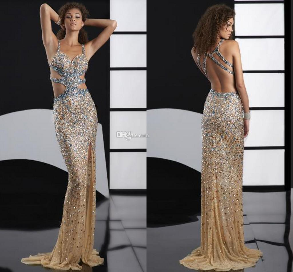 Gold Sexy Prom Dresses
