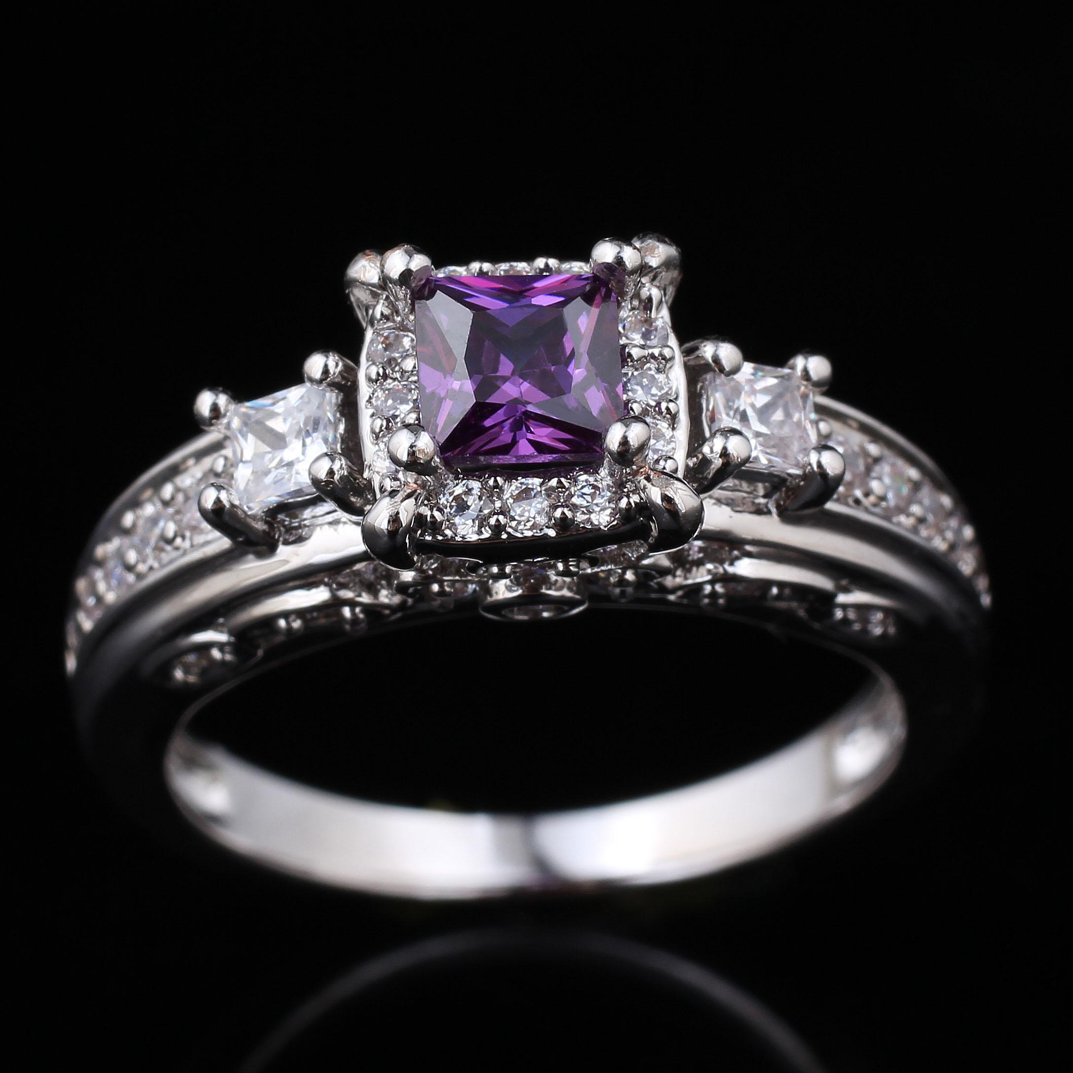 stone wedding diamonds engagement large diamond shining rings recent work hatton london garden purple