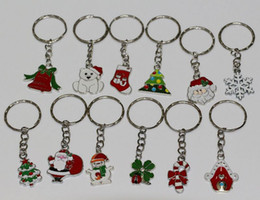 Wholesale Slide Enamel - Hot ! 48pcs Enamel Christmas Series mixed Charm Beads Band Chain key Ring Jewelry DIY 12 - Style