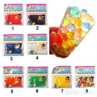 Wholesale 10bag Pearl shaped Crystal Soil Water Beads Mud Grow Magic Jelly balls wedding Home Decor