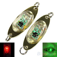 Forme LED profonde Goutte Underwater Eye Pêche Poisson Squid Lure Lumière Clignotant Lampe