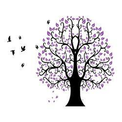 $enCountryForm.capitalKeyWord Canada - Free Shipping new Top Qaulity cartoon purple tree Removable Wall Stickers Large size Decal for home DIY decoration PVC sticker