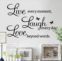 Wholesale Details about LIVE LAUGH LOVE Wall Quote Stickers Removable Vinyl Decal Home Art Decoration
