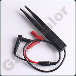 Wholesale Contact Frequency - free shipping SMD Test Meter Probe multimeter Tweezer capacitor#9834