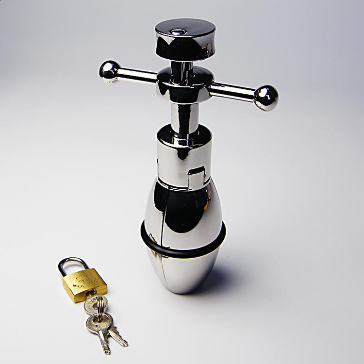 Chiusura Butt Plug, ultime desgin in acciaio inox 304 stretching butplug con serratura, espansione ano apparecchio analtoys