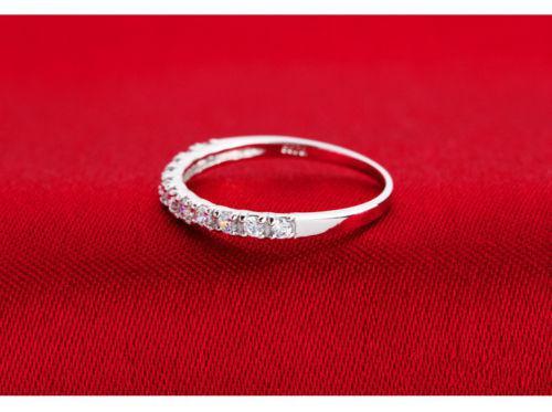 Brand New FASHION Bijoux Lady White Sapphire Gemstones 925 Bague En Argent Sterling Bague De Mariage Sz 4-9
