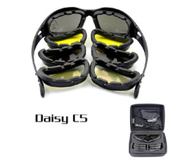 Chinese  Tactical Daisy C5 Cycling goggles Bicycle sunglasses professional motorcycle goggles riding glasses UV400 4 lens manufacturers