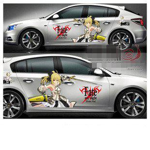 New Hot Anime Car Stickers FateStay Night Saber Lili From - Car anime stickers