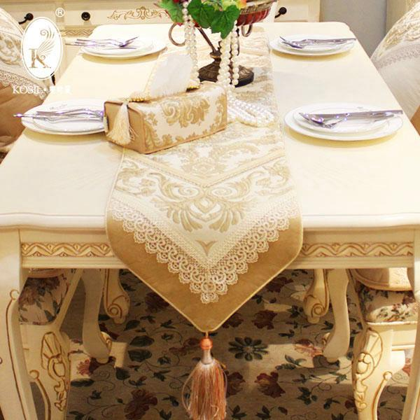 Luxury Fashion Dining Table Flag Table Cloth Coffee Table Cloth Cabinet Flag Water Soluble Lace