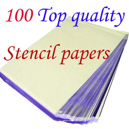 Wholesale Spirit Stencil - Solong Tattoo 100 Sheets A4 Tattoo Transfer Stecial Paper Spirit Master Top Quality Free Shipping TP101-100