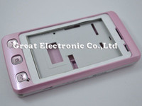 Wholesale Wholesale Faceplates Cell Phones - 50pcs,cell phone replacement full fascia housing faceplates case for lg kp500 mobile phone repair cover panel frame+keypad,sapre parts