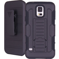 Wholesale Shockproof Case Clip - For Samsung Galaxy S5 Future Armor Impact Hybrid Hard Case Cover + Belt Clip Holster Kickstand Combo Rugged Shockproof