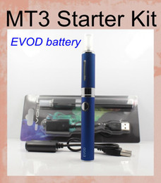 Kit cigarette électronique ego t mt3 en Ligne-MT3 EVOD Starter Kits Ego E cig E cigarette kit MT3 CE4 atomiseurs EVOD Blister Ego-t kit cigarette électronique Ecig kit 650/900 / 1100mah KZ013